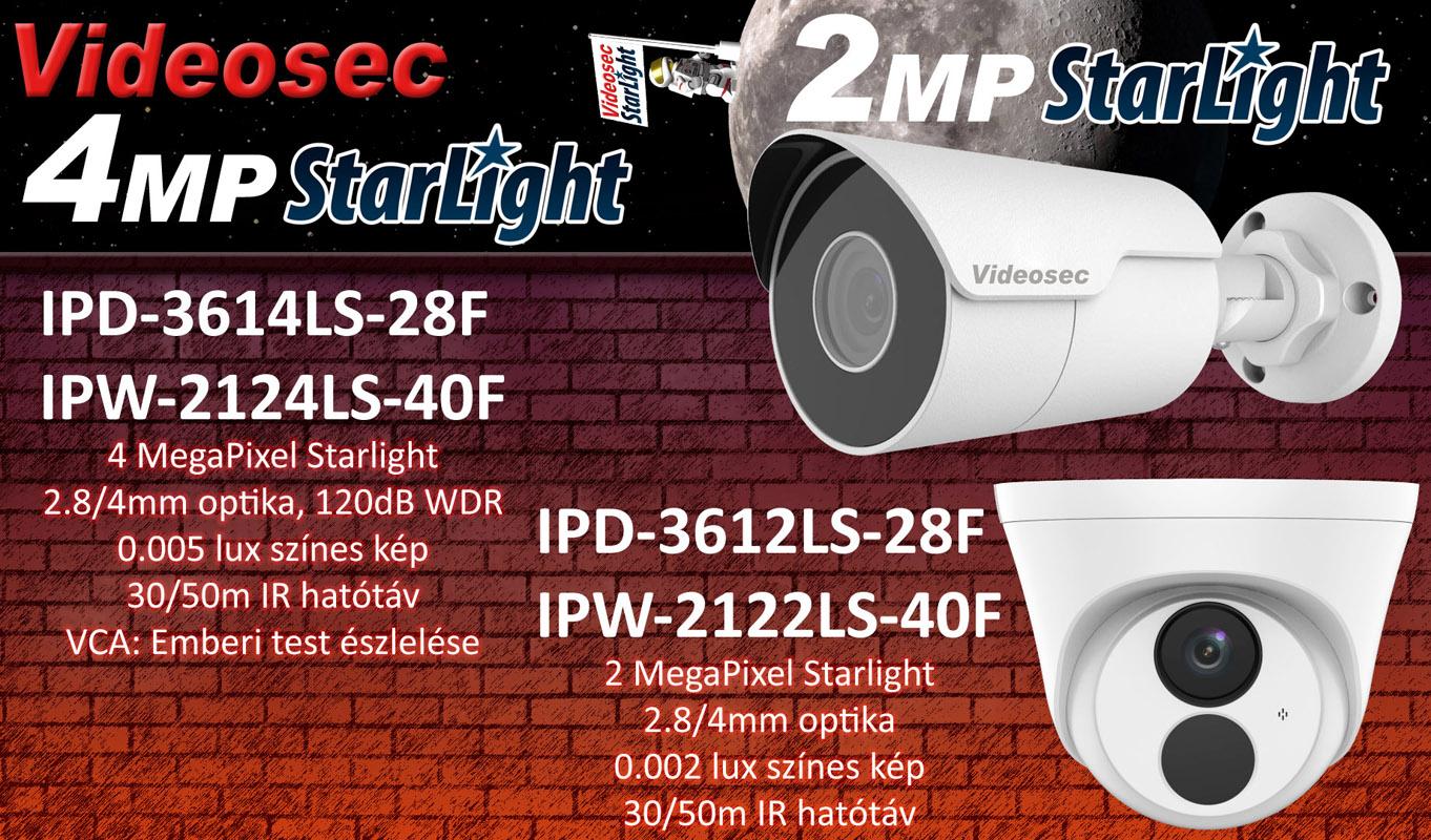 2MP és 4MP Starlight kamerák